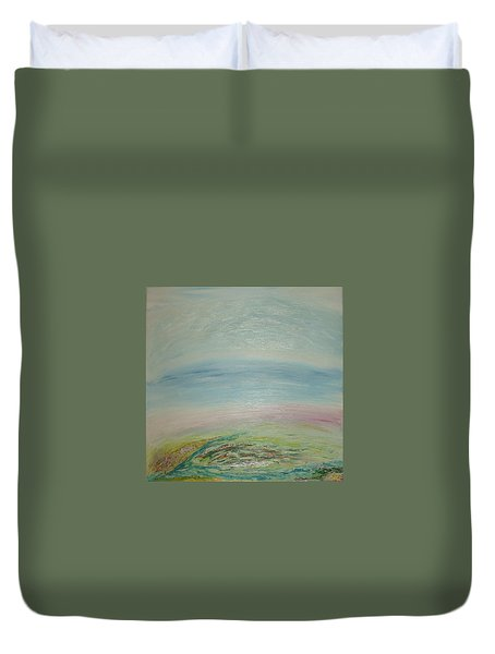 Imagination 7. Landscape. Three Dimensions. View From The Sky. Duvet Cover