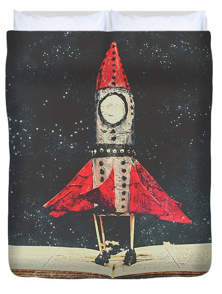 Imagination Is A Space Of Learning Fun Duvet Cover