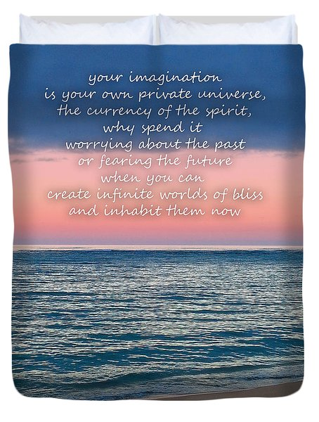 Duvet Cover featuring the photograph Imagination by Joseph J Stevens