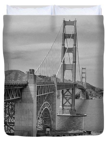 Imagination Of The Golden Gate In 1937 Duvet Cover