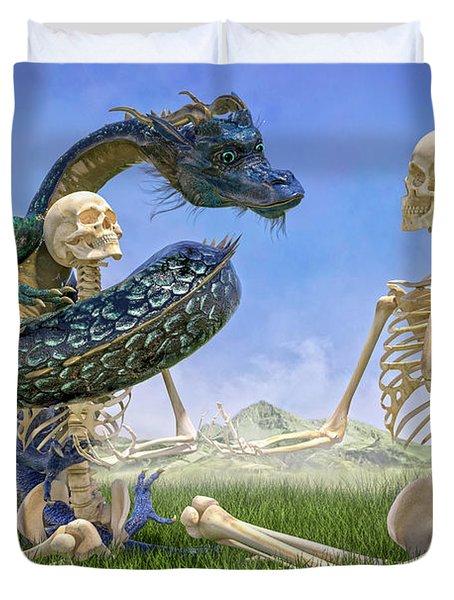 Imaginative Meditation Dragon Duvet Cover
