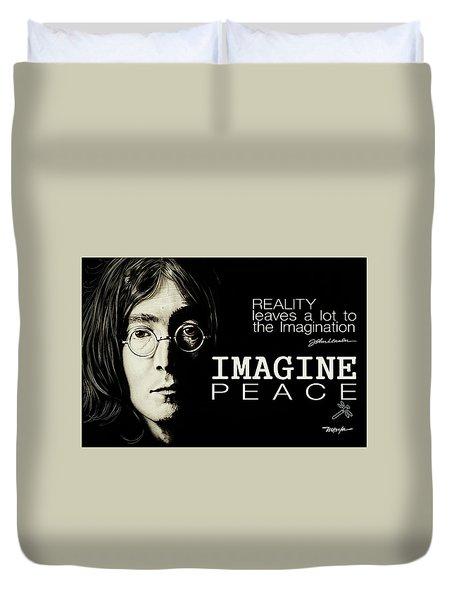 Imagine Peace- John Lennon Duvet Cover