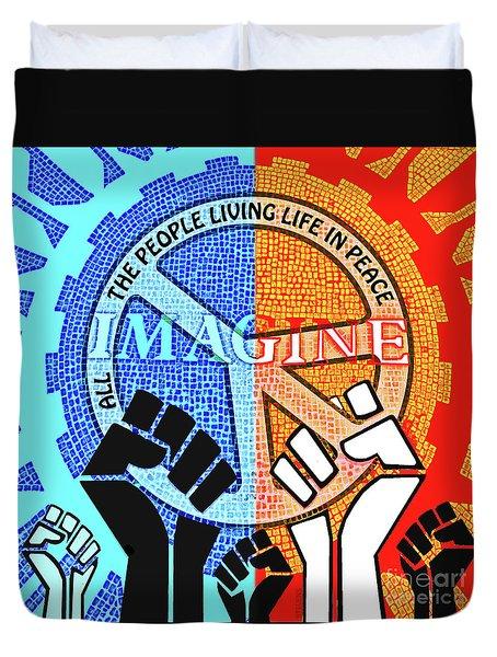 Imagine Peace Now Duvet Cover