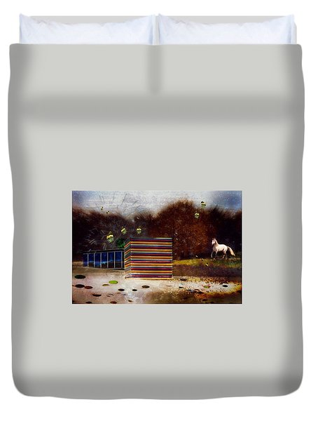 Duvet Cover featuring the photograph Imagine by Richard Ricci