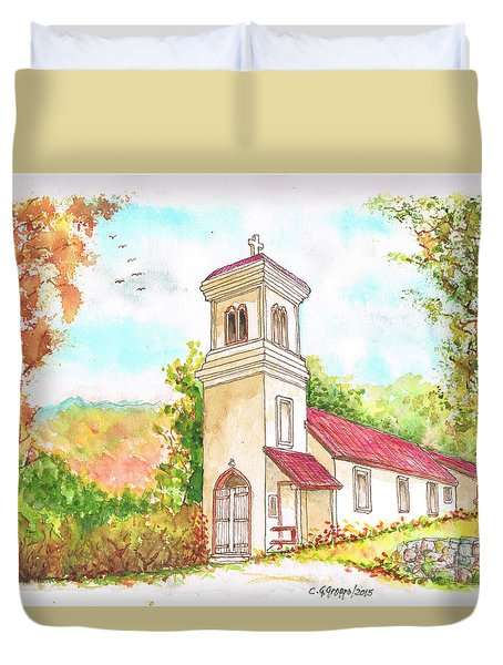 Immaculate Concepcion Catholic Church, Sierra Nevada, California Duvet Cover