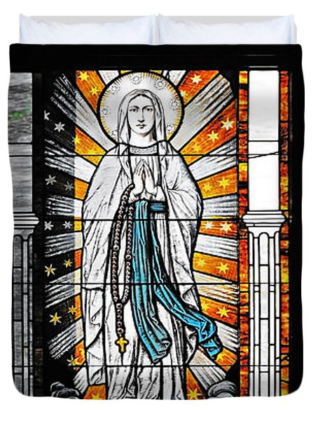 Duvet Cover featuring the photograph Immaculate Conception San Diego by Christine Till