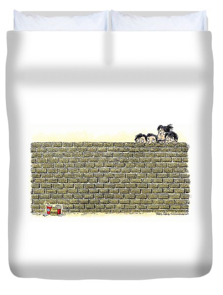 Immigrant Kids At The Border Duvet Cover