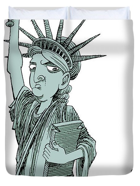 Immigration And Liberty Duvet Cover