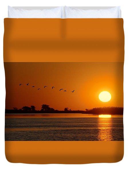 Impalila Island Sunset No. 1 Duvet Cover by Joe Bonita