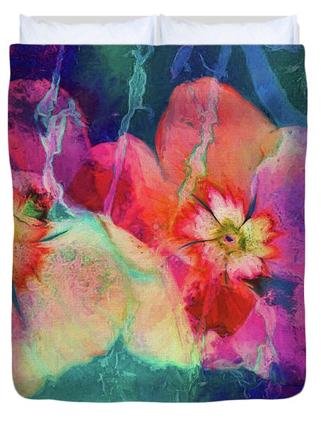 Impatiens Abstract Duvet Cover