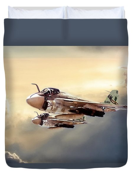 Impending Intrusion Duvet Cover by Peter Chilelli