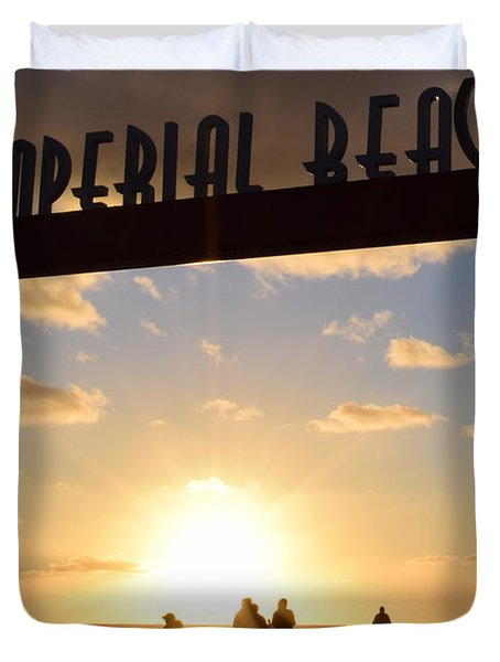 Imperial Beach At Sunset Duvet Cover