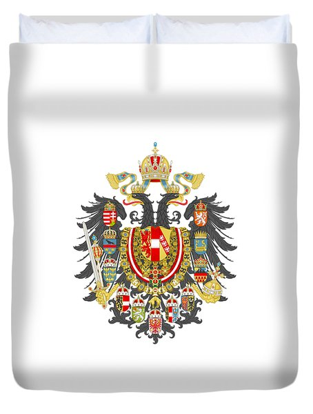 Imperial Coat Of Arms Of The Empire Of Austria-hungary Transparent Duvet Cover