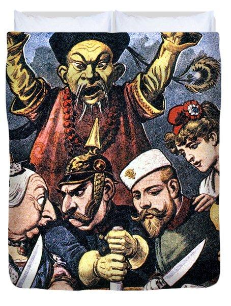 Imperialism Cartoon Duvet Cover