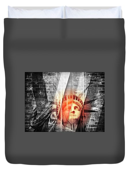 Imperiled Liberty II Duvet Cover