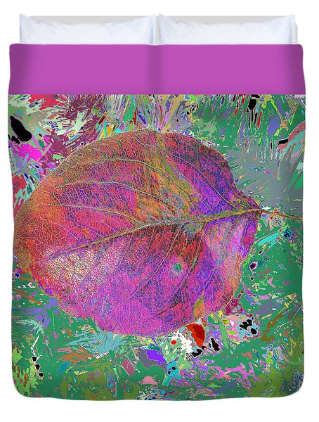 Imposition Of Leaf At The Season 4 Duvet Cover