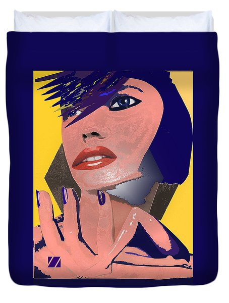 Duvet Cover featuring the painting Impossible Dream by Sheila Mcdonald