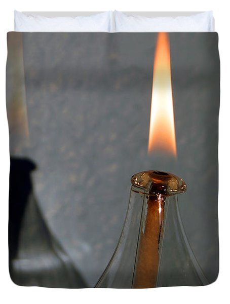 Impossible Shadow Oil Lamp Duvet Cover