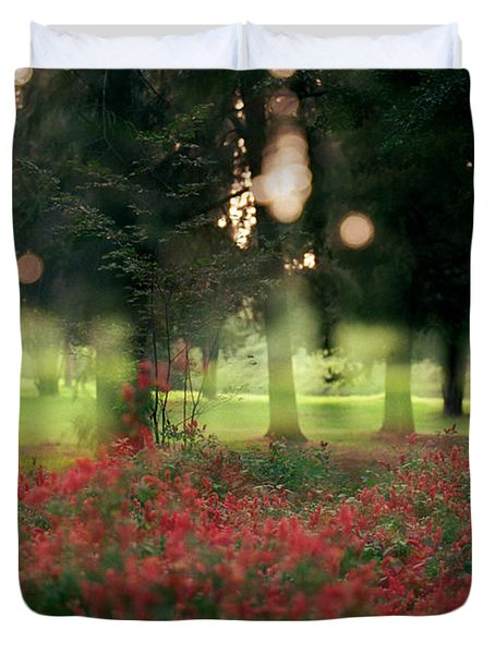 Duvet Cover featuring the photograph Impression At The Yarkon Park by Dubi Roman