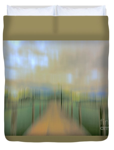 Duvet Cover featuring the photograph Impression by Mim White