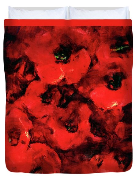 Impression Of Poppies Duvet Cover