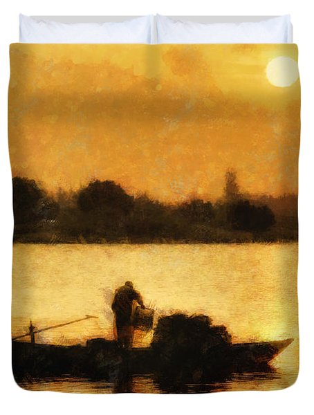 Impressionist Dawn Duvet Cover by Cameron Wood