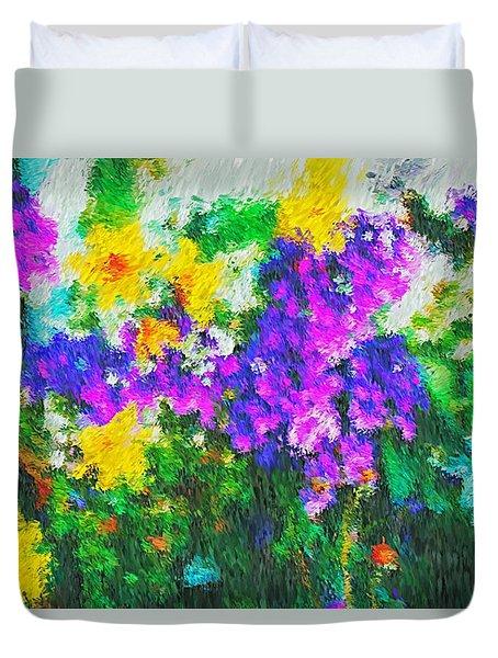 Impressionist Floral Duvet Cover