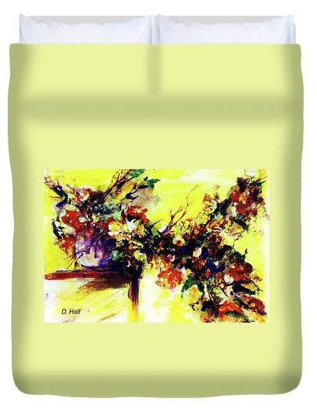 Impressionist Flowers #112, Duvet Cover by Donald k Hall