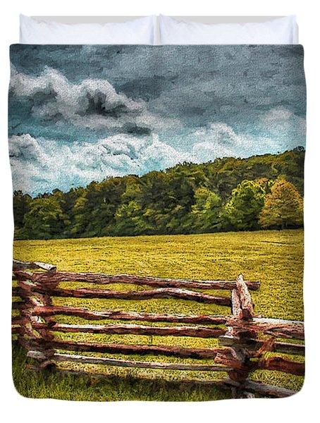 Impressionist Kennesaw Battlefield Duvet Cover