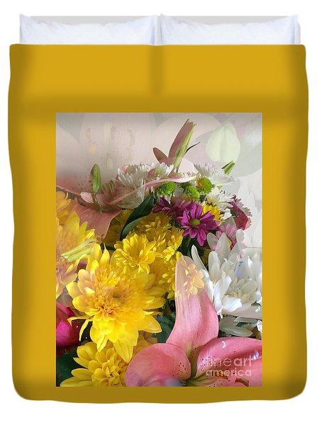 Impressionist Spring Bouquet Duvet Cover