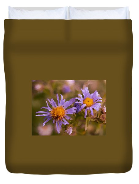 Impressionistic Asters Duvet Cover
