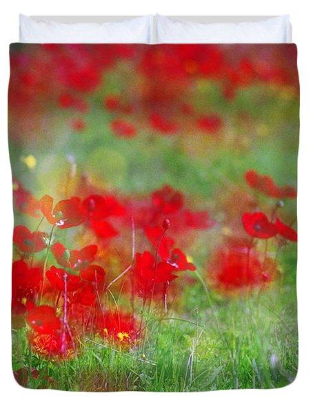 Impressionistic Blossom Near Shderot Duvet Cover