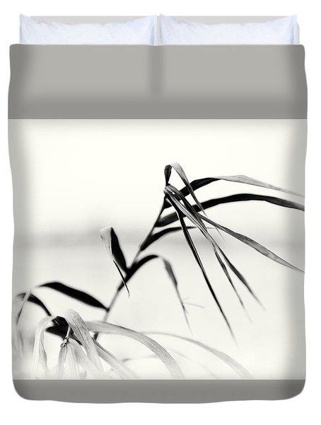 Impressions Monochromatic Duvet Cover by Tomasz Dziubinski