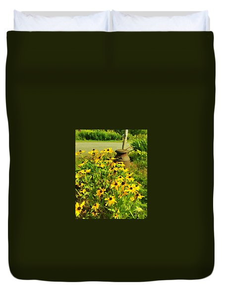 Impressions Of A Country Garden Duvet Cover
