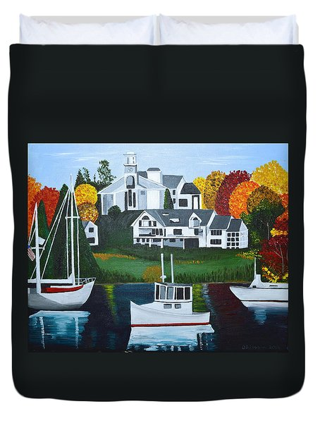 Impressions Of New England Two Duvet Cover
