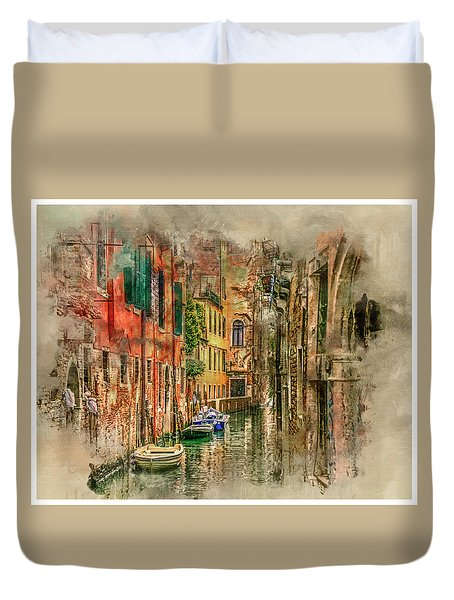 Impressions Of Venice Duvet Cover by Brian Tarr