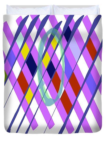 Improvised Geometry #1 Duvet Cover
