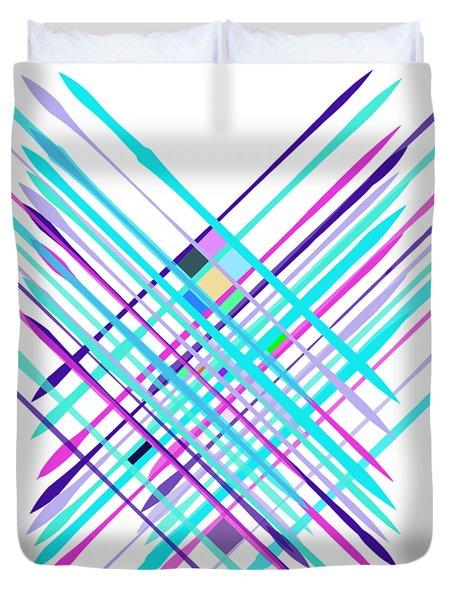 Improvised Geometry #2 Duvet Cover