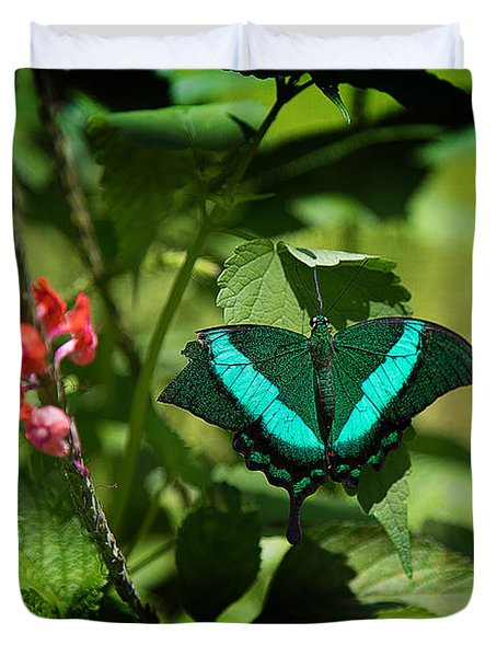 In A Butterfly World Duvet Cover
