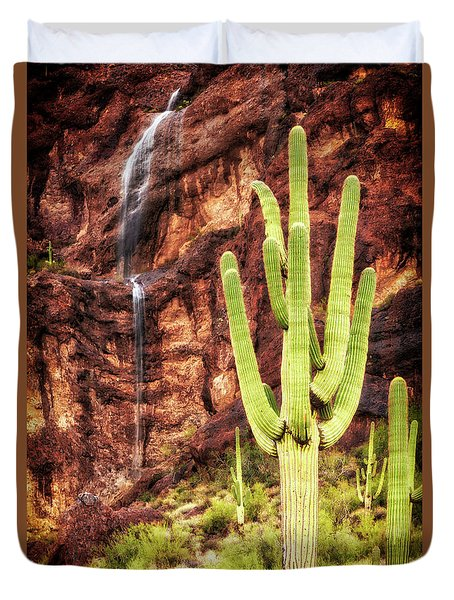 Duvet Cover featuring the photograph In A Dry And Thirsty Land by Rick Furmanek