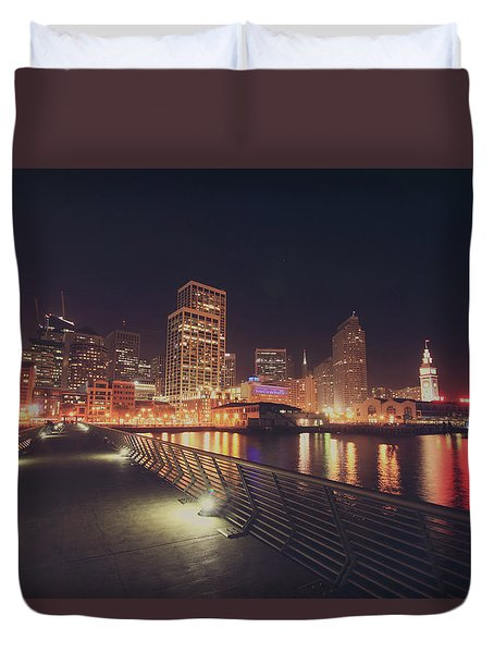 Duvet Cover featuring the photograph In A Heartbeat by Laurie Search