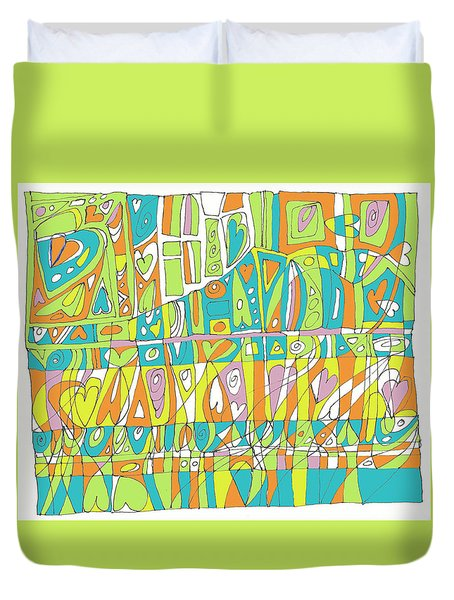In A Heartbeat Duvet Cover by Linda Kay Thomas