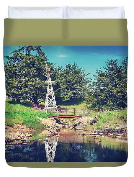 In A Perfect World Duvet Cover by Laurie Search