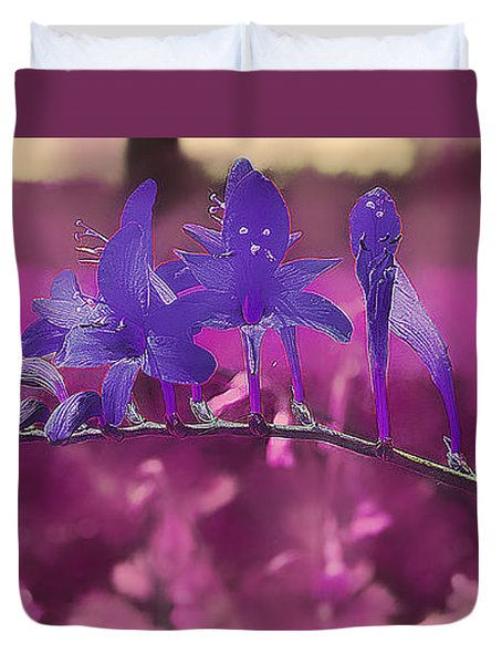 In A Pink World Duvet Cover by Milena Ilieva