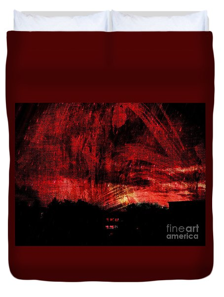 In A Red World Duvet Cover
