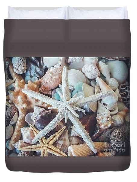 In A Sea Of Shells-  Duvet Cover