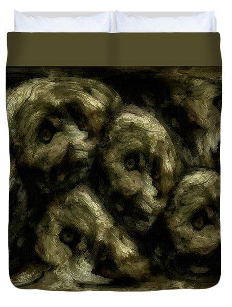 Duvet Cover featuring the digital art In A Swedish Troll Forest by Gun Legler