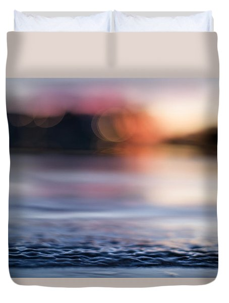 Duvet Cover featuring the photograph In-between Days by Laura Fasulo
