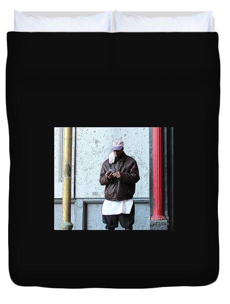 Duvet Cover featuring the photograph In Between by Joe Jake Pratt
