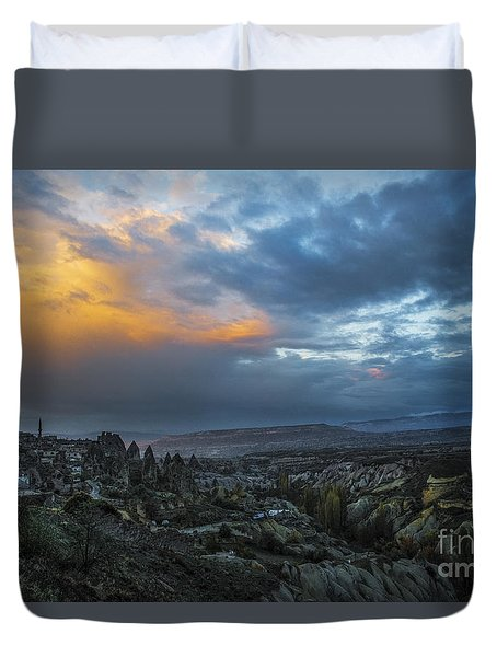 In Between Uchisar And Goreme Duvet Cover by Yuri Santin